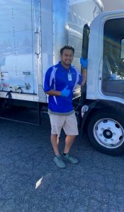 Smiling Tech side of HOC Truck - Saravy