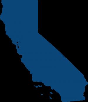 blue-califonia map